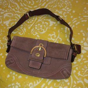 Suede COACH bag